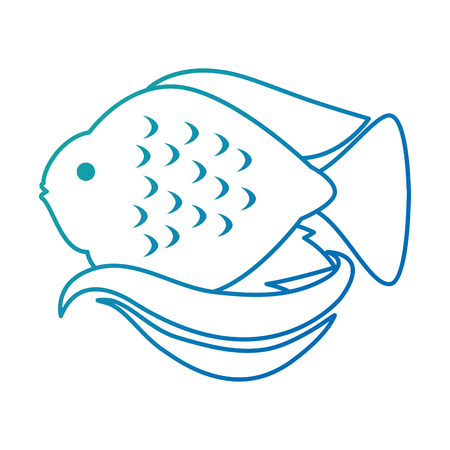 Cute ornamental fish icon. 스톡 콘텐츠 - 100034262