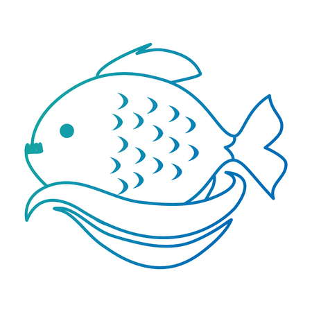 Cute ornamental fish icon. 스톡 콘텐츠 - 100034274