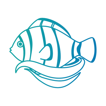 Cute ornamental fish icon. Illustration