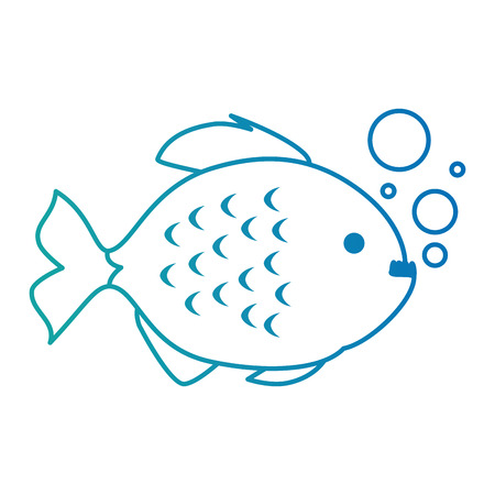 Cute ornamental fish with air bubbles.