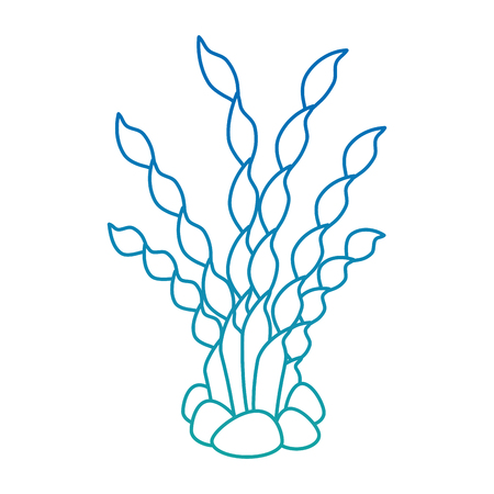 Ontwerp van de het pictogram vectorillustratie van het aquarium het decoratieve zeewier. Stock Illustratie