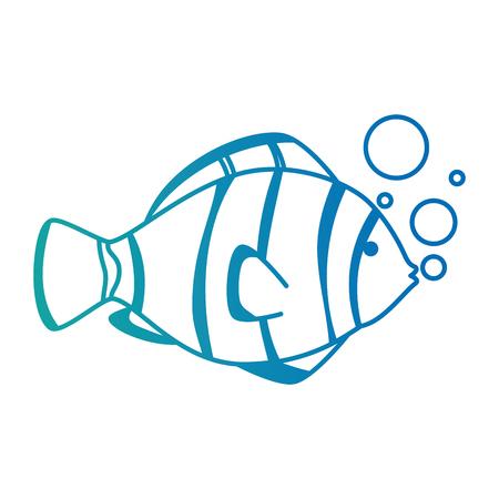●気泡ベクトルイラストデザインの可愛い観魚。