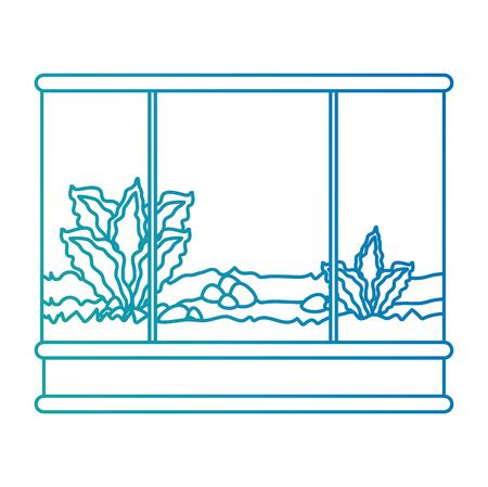 Square aquarium without fish icon vector illustration design.