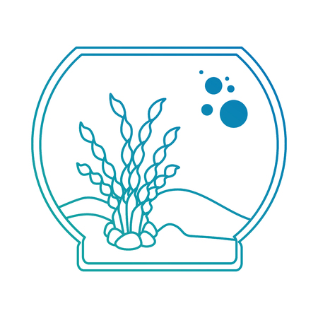 Aquarium bowl without fish icon vector illustration design. Illustration