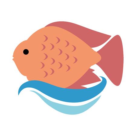 かわいい観賞魚アイコンベクトルイラストデザイン