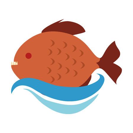 Cute ornamental fish icon vector illustration design.