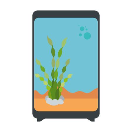 Rectangular aquarium without fish icon vector illustration design.