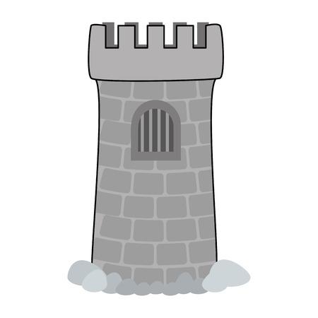 Tower aquarium decoration vector illustration design.