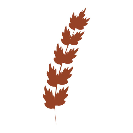 Leaf of marine plant vector illustration design.  イラスト・ベクター素材