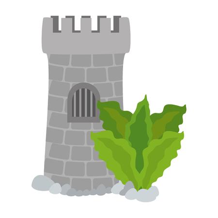 Tower aquarium with seaweed decoration vector illustration design.