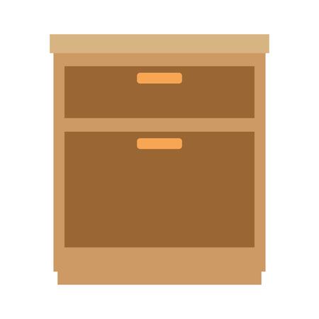 Cassetto ufficio isolato icona illustrazione vettoriale illustrazione Archivio Fotografico - 100022839