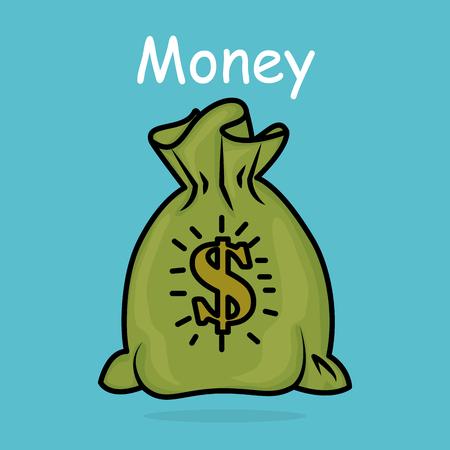 save money bag icon vector illustration design