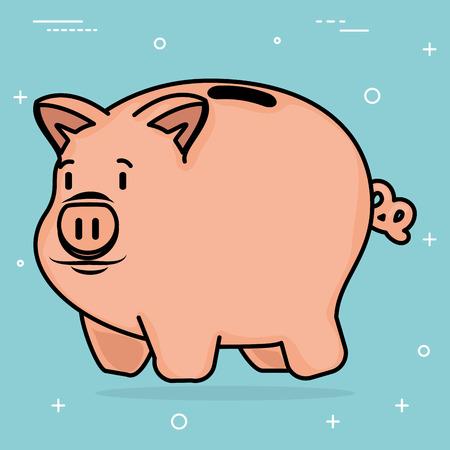 piggy save money icon vector illustration design Illustration