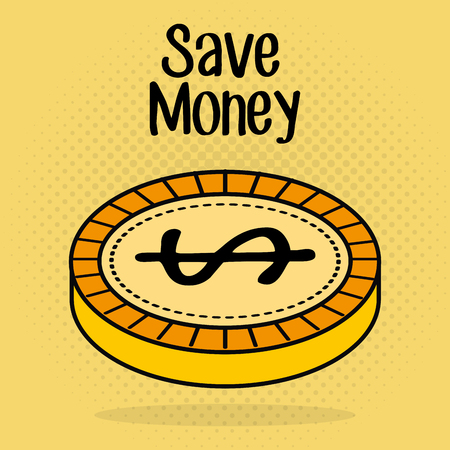 Save money coin icon vector illustration design. Illustration