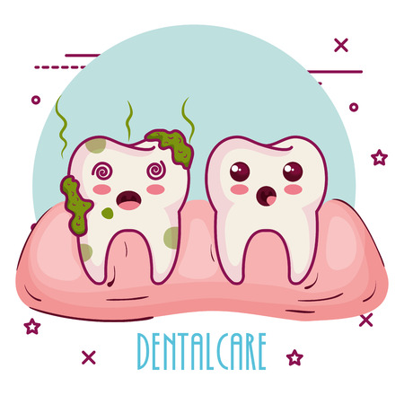 dental care characters vector illustration design Illustration