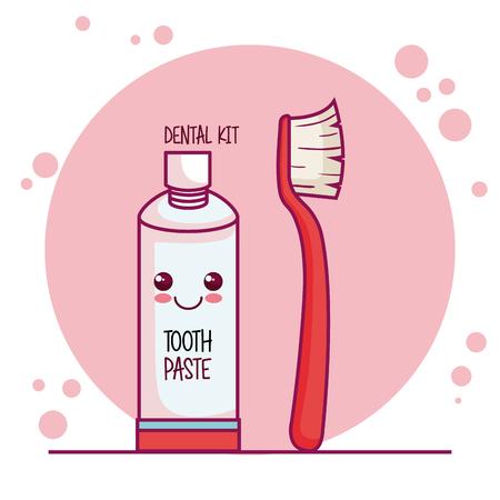 dental care characters vector illustration design Ilustração