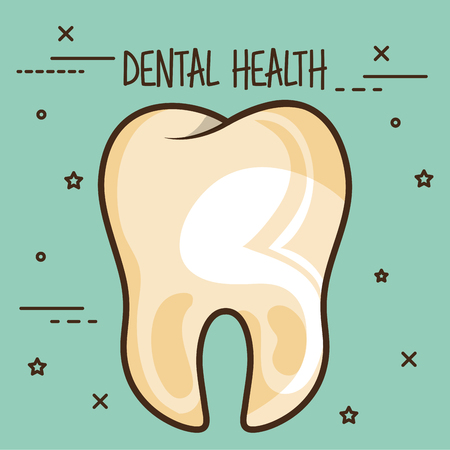 dirty tooth dental care icon vector illustration design Ilustração