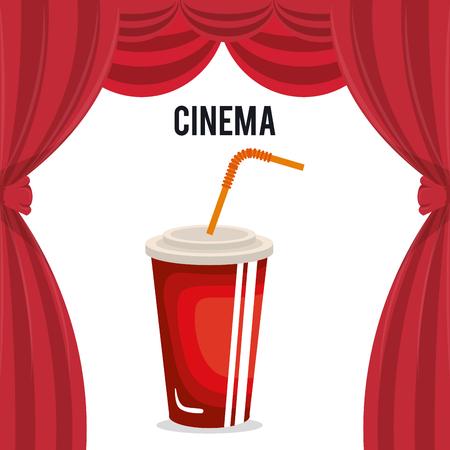 cinema soda drink entertainment icon vector illustration design 일러스트