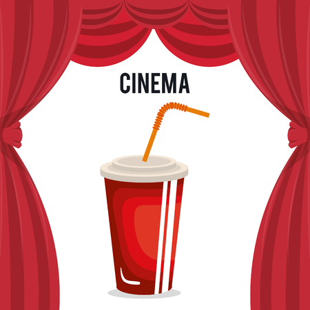 cinema soda drink entertainment icon vector illustration design Illustration