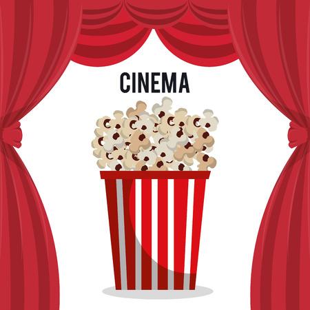 cinema pop corn entertainment icon vector illustration design