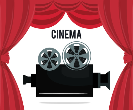 cinema camera film entertainment icon vector illustration design Stok Fotoğraf - 99934208