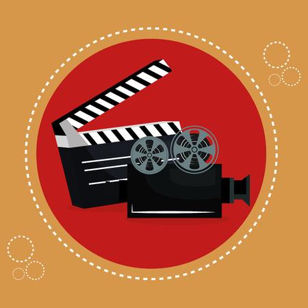 cinema clapper board entertainment icon vector illustration design Stok Fotoğraf - 100107941