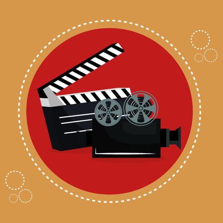 cinema clapper board entertainment icon vector illustration design