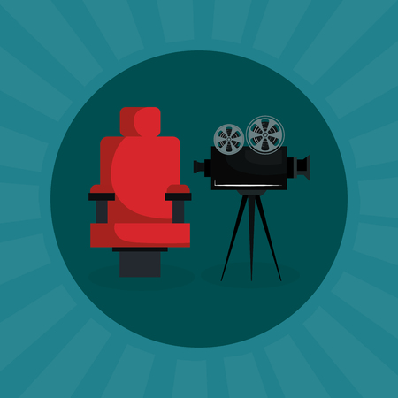cinema camera film entertainment icon vector illustration design