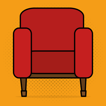cinema chairs entertainment icon vector illustration design