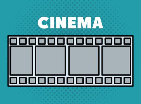 cinema tape entertainment icon entertainment icon vector illustration design