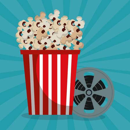 cinema tape reel entertainment icon vector illustration design Stok Fotoğraf - 99973052