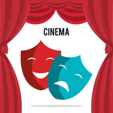 cinema theatrical mask entertainment icon vector illustration design
