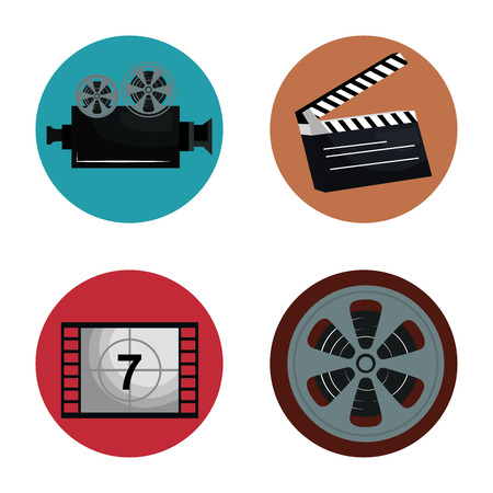 cinema entertainment set icons vector illustration design Stok Fotoğraf - 99973099