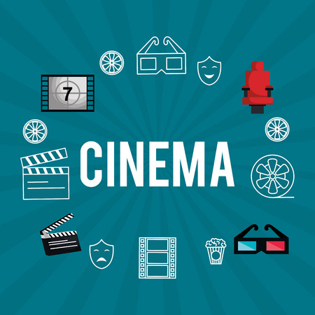 cinema entertainment set icons vector illustration design Stok Fotoğraf - 99973102