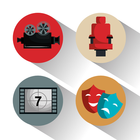 cinema entertainment set icons vector illustration design Stok Fotoğraf - 99973100