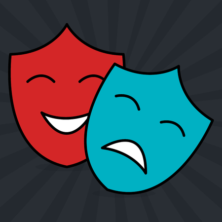 cinema theatrical mask entertainment icon vector illustration design Stok Fotoğraf - 99973109
