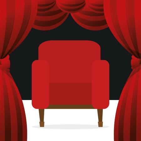 cinema chairs entertainment icon vector illustration design Stok Fotoğraf - 99995957