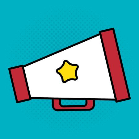 cinema director megaphone entertainment icon vector illustration design
