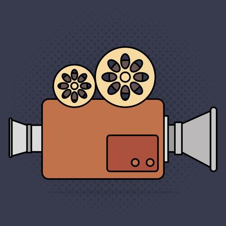 cinema camera film entertainment icon vector illustration design