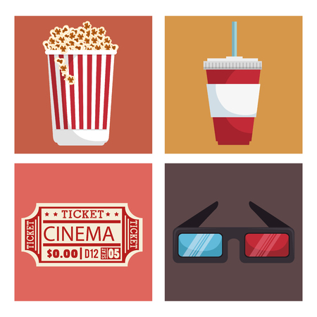 cinema entertainment set icons vector illustration design Stok Fotoğraf - 99935919