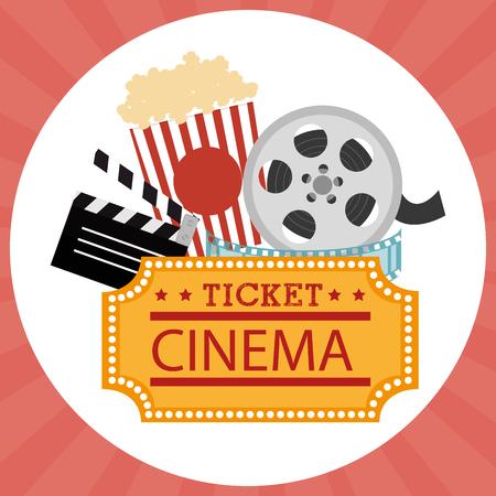 cinema entertainment set icons vector illustration design