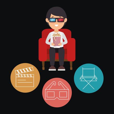cinema entertainment set icons vector illustration design Stok Fotoğraf - 99935946