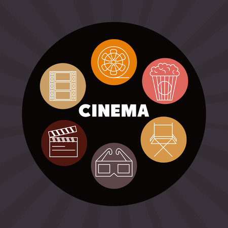 cinema entertainment set icons vector illustration design Stok Fotoğraf - 99935947