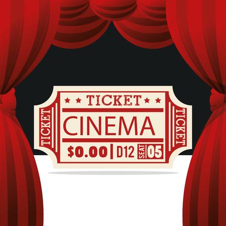 ticket cinema entertainment icon vector illustration design