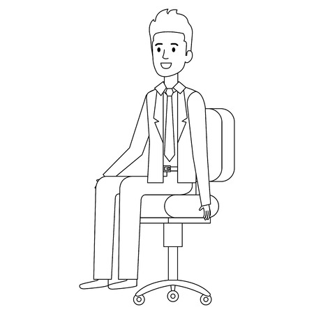 Businessman sitting on an office chair