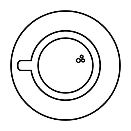 コーヒーカップと受け皿のアイコン  イラスト・ベクター素材