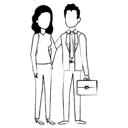 Business couple avatars vector illustration design Stock Vector - 99943872