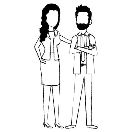 Business couple avatars vector illustration design Stock Vector - 99943871