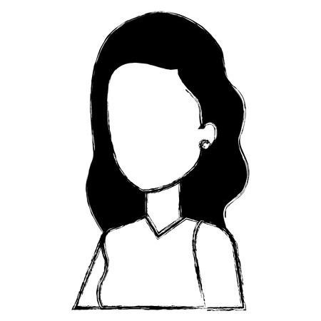 A businesswoman avatar character icon vector illustration design Stok Fotoğraf - 99943883