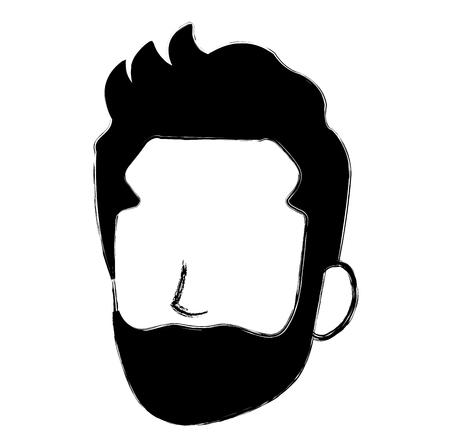 Faceless man character icon 矢量图像